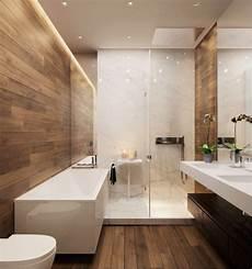 salle de bain moderne en bois et blanc salle de bain