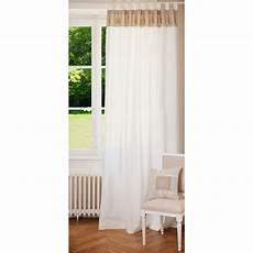 rideau 224 passants en coton blanc et beige 150 x 250