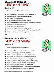 english grammar participle adjectives ed vs ing www allthingsgrammar com participle