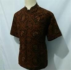 jual kemeja batik pria baju batik cowok krah koko shanghai cs2 di lapak herliolshop herliolshop
