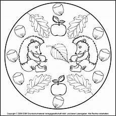 Herbst Ausmalbilder Mandala Mandala Egels En Herfstfruit Mandala Kleurplaten