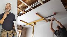 how to install ceiling drywall using a panel lift home