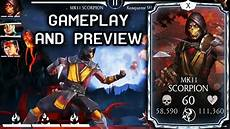 mortal kombat mobile mkx mobile update news mk 11 scorpion gameplay review