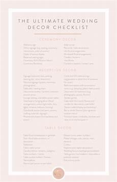 the ultimate wedding decor checklist leaving no stone
