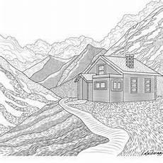 Ausmalbilder Urlaub Berge Ausmalbild Einfaches Haus Malen Coloring