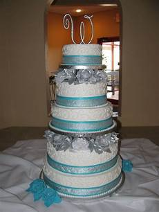 malibu blue and silver wedding decorations blue and silver wedding cake by mindyf silver