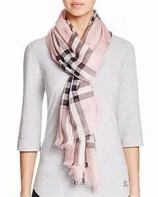 Burberry Check Wool Silk Gauze Scarf Bloomingdale S