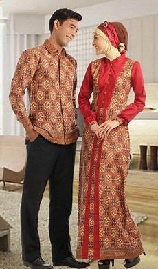 Baju Muslim Cauple Batik Silk itulah beberapa model busana muslim batik casual kombinasi