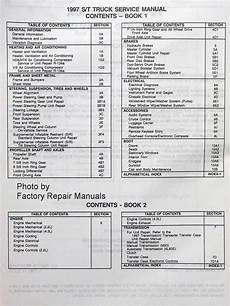 car owners manuals free downloads 1997 gmc sonoma club coupe auto manual 1997 chevy s10 truck blazer gmc s15 sonoma pickup jimmy olds bravada shop service manual set