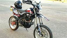 Modifikasi Supermoto by Modifikasi Simpel Klx Dtracker 150 Supermoto