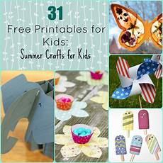 basteln sommer kinder 31 free printables for summer crafts for