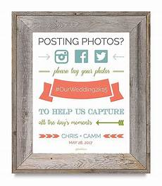 super cute free printable wedding hashtag sign