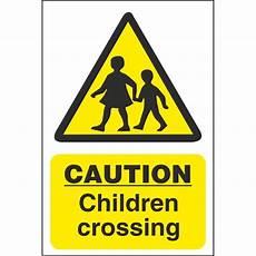 caution children crossing hazard signs school safety