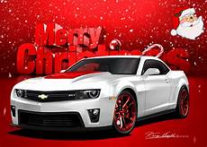 chevy camaro say s merry christmas from the automotive art of danny whitfield automotive art
