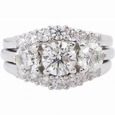 2 18ct vintage diamond engagement wedding ring