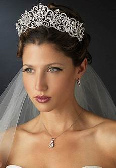 silver plated 2 1 2 quot royal wedding or quinceanera tiara headpiece wedding wedding hairstyles