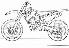 dirt bike malvorlagen kawasaki motocross bike coloring