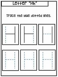 letter h trace worksheets 24509 letter h worksheet trace and write by shine earlyed tpt