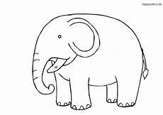 kleiner elefant ausmalbild in 2020 malvorlagen tiere