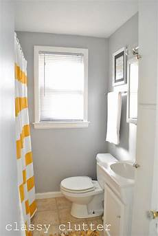 Grey Yellow Bathroom Ideas by Clean And Simple Yellow Bathroom Redo Clutter