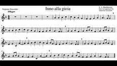 testo gioia beethoven inno alla gioia flauto dolce arr m