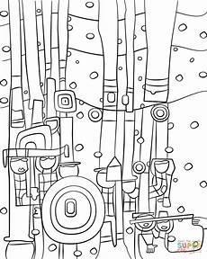Malvorlage Hundertwasser Haus Blue Blues By Friedensreich Hundertwasser Coloring Page