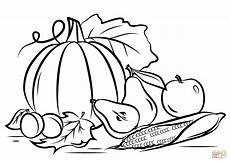 autumn harvest coloring page free printable coloring pages