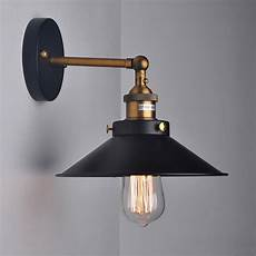 american retro loft vintage industrial 1 light wall light sconce black umbrella bedside wall