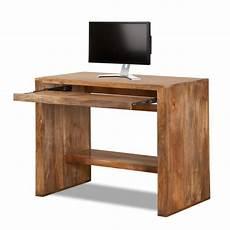 porta pc legno scrittoio etnico porta computer legno naturale scrivanie