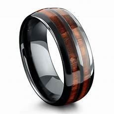 wooden wedding rings men barrel ceramic koa ring northern royal llc
