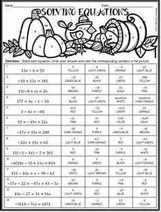 thanksgiving algebra worksheets high school 8433 solving equations thanksgiving algebra activity 3 differentiated levels solving equations