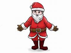 how to draw santa claus 14 steps wikihow