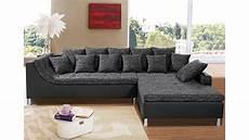 couch mit ottomane ecksofa montego sofa mit ottomane schwarz anthrazit 6 kissen
