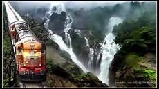 images amaravathi express dudhsagar waterfalls braganza ghats indian railways youtube
