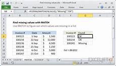 excel formula find missing values exceljet