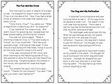 teaching fables reading passages and comprehension