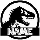 Amazoncom T Rex Jurassic Park  Custom With YOUR Name