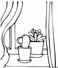 Malvorlagen Fenster Pflanzen Am Fenster Ausmalbild Malvorlage Mode Und Kunst