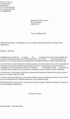 lettre de motivation pour un apprentissage lettre de motivation demande d apprentissage laboite cv fr