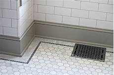 Bathroom Floor Tile Trim by Quarter Design Studio Bathroom Ma