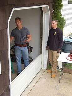 how to install a garage door how tos diy