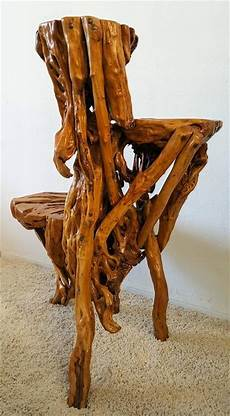 Sculptural Three Tiered Root Wood Table For Sale