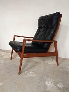 sessel holz design arne wahl iversen komfort lounge chair teak 60s