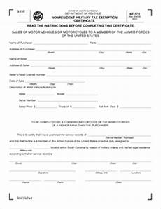 form st 178 fillable nonresident military tax exemption certificate