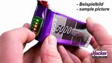 hacker lipo akku 2400 mah 11 1 volt 20c 3s mit stecker ec3