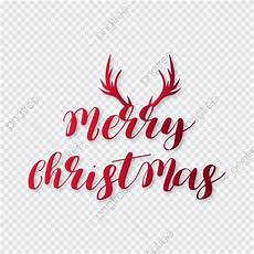 merry christmas typographic with horns merry christmas png and vector with transparent