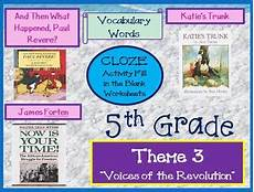 houghton mifflin reading 5th grade theme 3 cloze worksheets by the teacher team