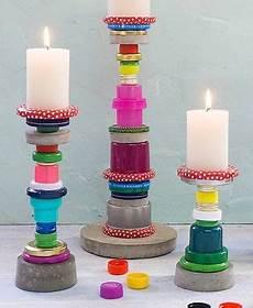 Basteln Mit Flaschendeckeln - kerzenst 228 nder aus flaschendeckeln weihnachten