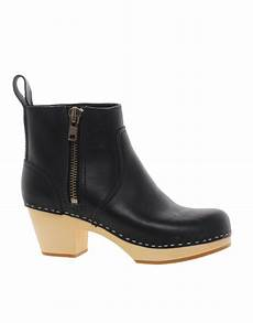 swedish hasbeens 877 zip it emy ankle boots in black