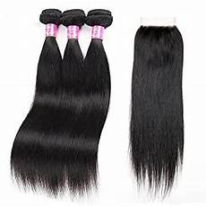 Amazon Com 3 Part Lace Closure Straight With Amazon Com Brazilian Straight Hair With Closure 3